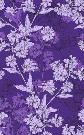 Stylish vintage floral seamless pattern  EPS8 vector
