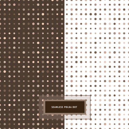 Seamless background set  Polka dot patterns  Elegant classic colors  Vector
