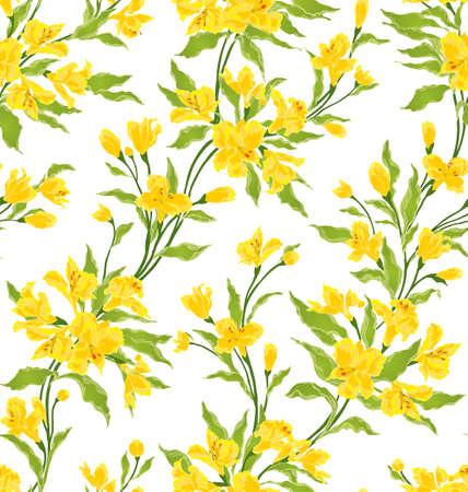 スタイリッシュなビンテージ シームレスな花柄 EPS8 ベクトル  イラスト・ベクター素材