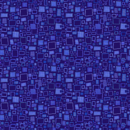 indigo: Seamless abstract hand drawn pattern with scratch effect