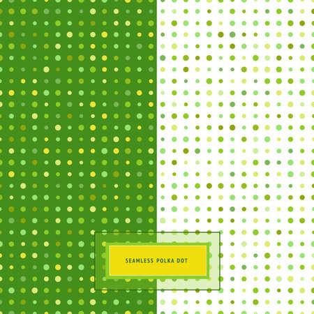 Seamless background set. Polka dot patterns. Elegant classic colors.