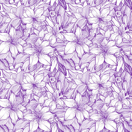 Stylish vintage floral seamless pattern. EPS8 vector. Vector