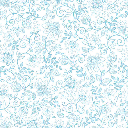 Seamless pattern with decorative flowers. Vintage wallpaper. Vector illustration. Ornament. Vector