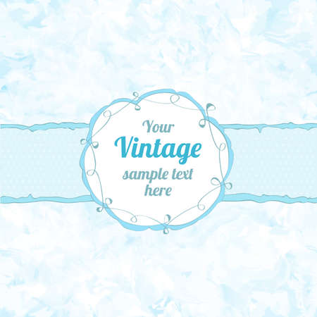 Stylish floral seamless background with frame. Element for design. Vintage vector illustration Shabby chic