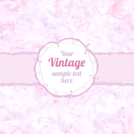 Stylish floral seamless background with frame. Element for design. Vintage vector illustration. Shabby chic