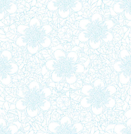nature pattern: Seamless pattern with decorative flowers. Vintage wallpaper. Vector illustration. Natural ornament.