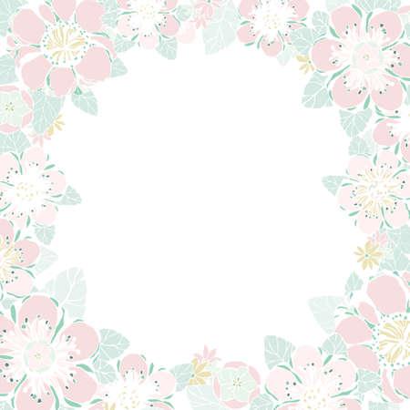 fleurs romantique: Carte de mariage ou invitation avec le fond floral abstrait. Cadre avec des fleurs. R�tro illustration vectorielle. mod�le d'�l�gance avec la fleur de pivoine. Anniversaire Valentine. Illustration