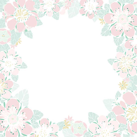 Wedding card or invitation with abstract floral background. Frame with flowers. Retro vector illustration. Elegance pattern with flower peony. Valentine anniversary.
