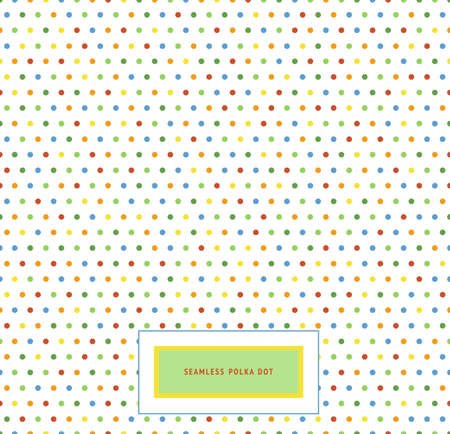 Polka dot pattern. Seamless background. Rainbow colors. Vector