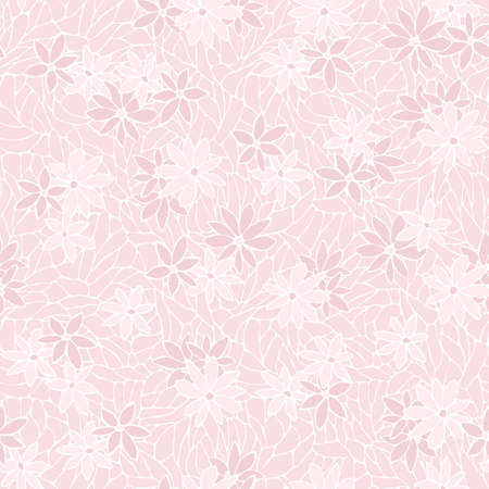 Seamless pattern with decorative flowers and lace texture. Vintage wallpaper.