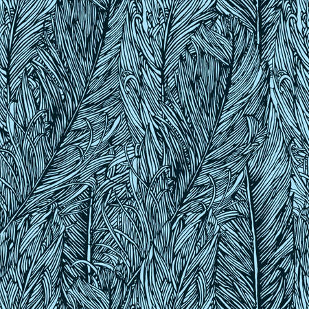 Seamless pattern with feathers Illustration