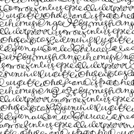 Seamless texture with hand writing abstract text.