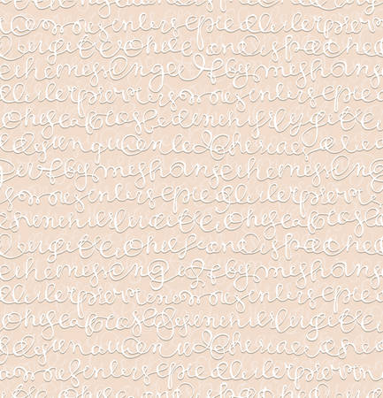 Seamless texture with hand writing abstract text. Vector