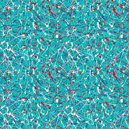 Seamless abstract pattern. Hand drawn, drip painting.