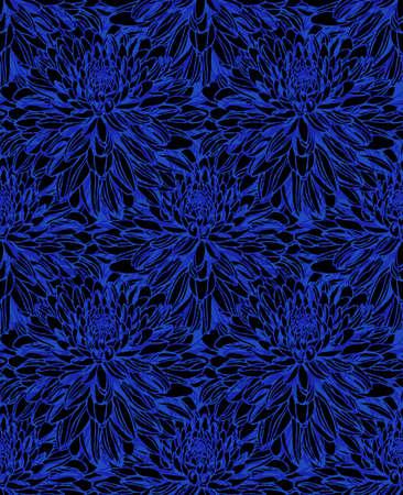 Seamless pattern with decorative flower Иллюстрация