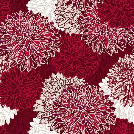 シームレスなパターン装飾花  イラスト・ベクター素材