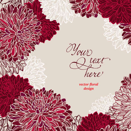 花テンプレート ベクトル イラスト。装飾的なフレーム。 写真素材 - 38472603