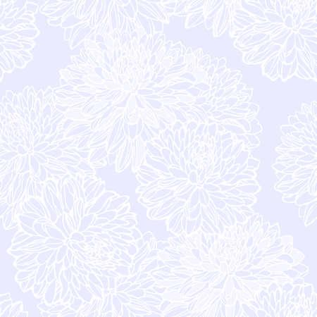 装飾花のシームレス パターン