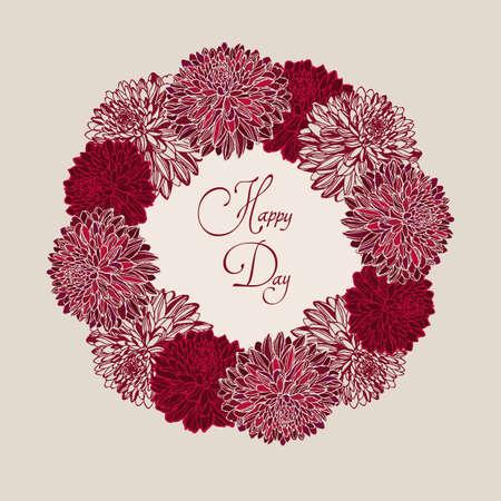 bodas de plata: Marco floral decorativo  Vectores
