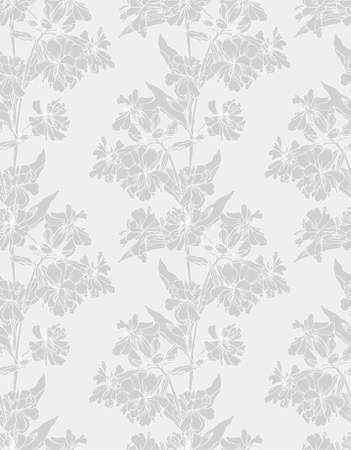 tree peony: Seamless pattern with decorative flower Illustration