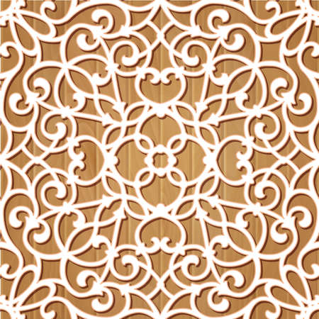 scrollwork: Seamless lace pattern.