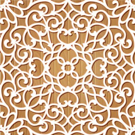 frilly: Seamless lace pattern.