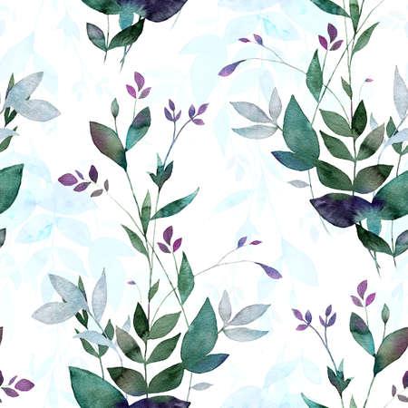 Abstracte achtergrond basis op aquarel schilderen. Digitale gemengde textuur voor textiel, stoffen, souvenirs, verpakkingen, wenskaarten en scrapbooking. Hand getrokken naadloos patroon. Stockfoto