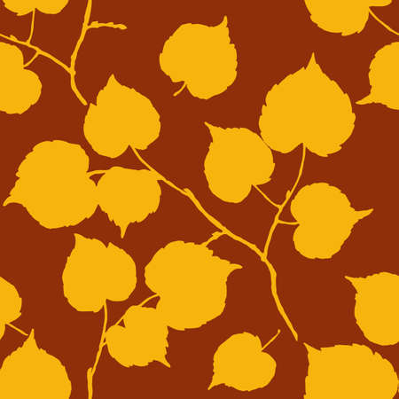 herbarium: Vector watercolor leaf background. Vintage template. Herbarium. Autumn seamless pattern with leaf. Autumn theme. Stock Photo