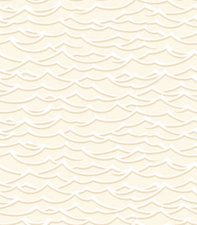 Vector seamless pattern with abstract wave and tribal motifs. Geometric background can be used in interior fashion, package design, web, prints. Illustration