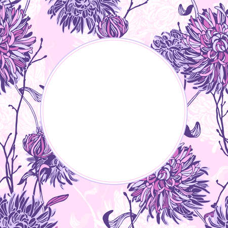 Vector floral elements and frames. Hand drawn flowers and branches. Wedding invitation decor.
