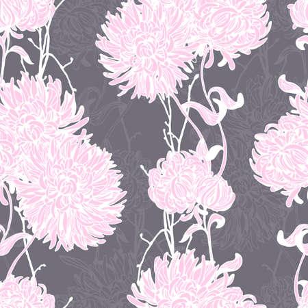 Floral background. Nahtlose Blumenmuster. Hand gezeichnet Textur mit abstrakten Blumen für Textilien, Stoffe, Souvenirs, Verpackung, Grußkarten und Scrapbooking.