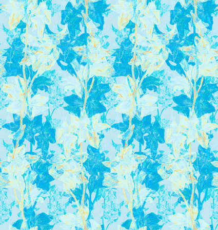 Seamles decorative pattern with flowers. Floral background.