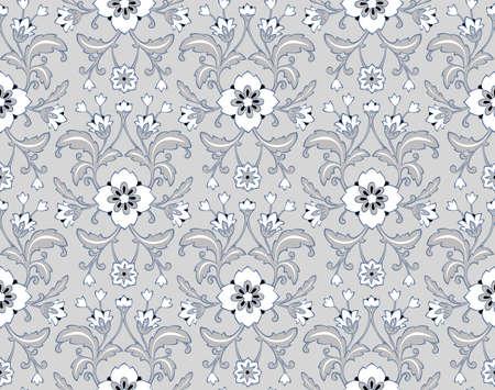Floral background. Seamless wallpaper. Фото со стока - 112141666