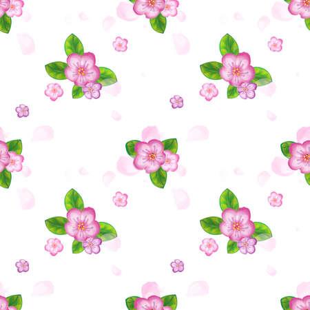 Spring floral seamless pattern Иллюстрация