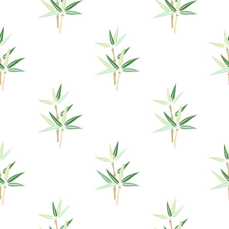 Seamless background with bamboo branch. EPS 10.