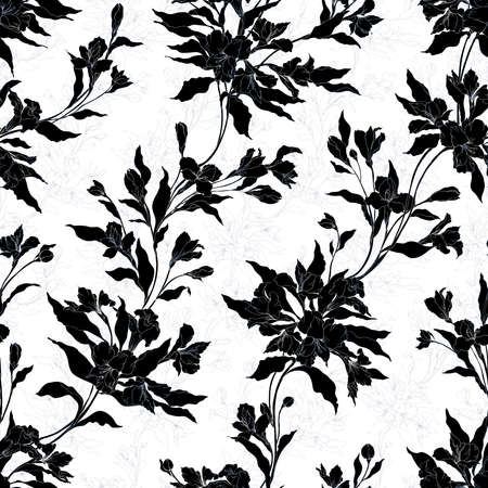 Floral background based on  painting. Texture for textiles, fabrics, souvenirs, packaging, greeting cards and scrapbooking. Фото со стока - 112475702