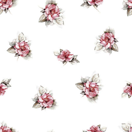 Floral background based on  painting. Texture for textiles, fabrics, souvenirs, packaging, greeting cards and scrapbooking. Фото со стока - 112474857