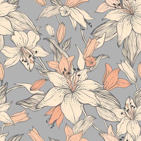 Stylish vintage floral seamless pattern. Фото со стока - 111783205
