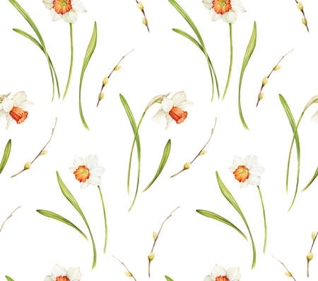 Floral background based on watercolor painting. Texture for textiles, fabrics, souvenirs, packaging, greeting cards and scrapbooking. Hand drawn seamless pattern. Фото со стока - 122310829