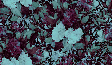Floral background based on watercolor painting. Texture for textiles, fabrics, souvenirs, packaging, greeting cards and scrapbooking. Hand drawn seamless pattern. Фото со стока - 122310838
