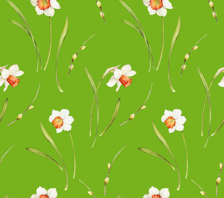 Floral background based on watercolor painting. Texture for textiles, fabrics, souvenirs, packaging, greeting cards and scrapbooking. Hand drawn seamless pattern. Фото со стока - 122310839