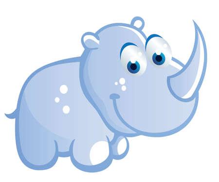 baby rhino cartoon Vector