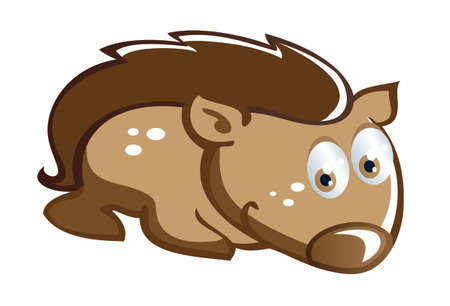baby hedgehog cartoon Vector
