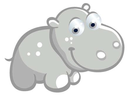 Baby hippopotamus Vector