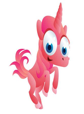 unicorn cartoon Vector