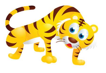 tigre caricatura: lindo tigre de la historieta Vectores