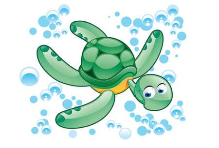 green turtle: verde tartaruga del fumetto