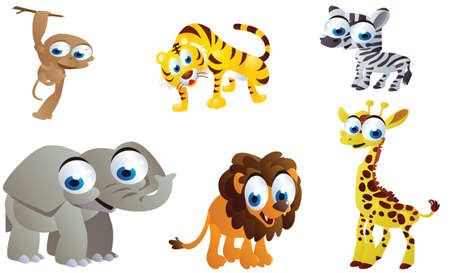cute safari animals Vector