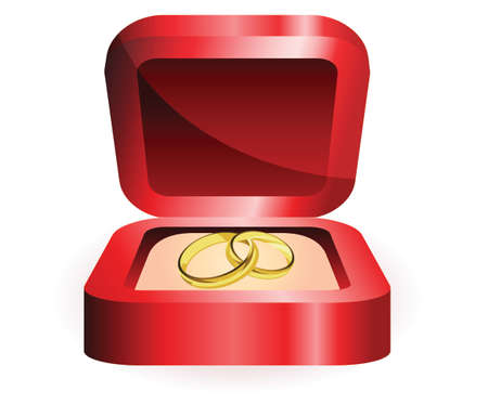 gold ring: gold ring in red box