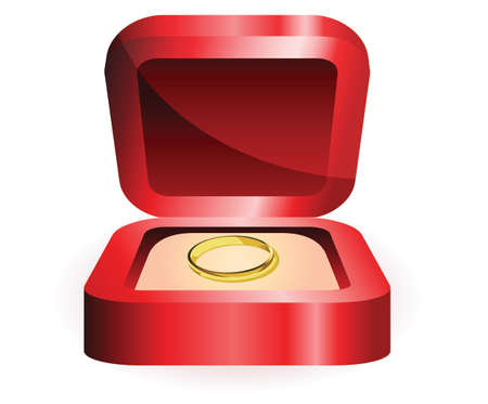gold ring: gold ring in red box illustration